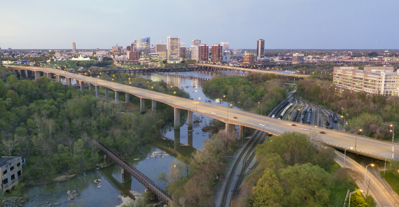 Richmond Virginia City Skyline