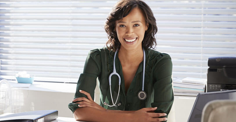 A healthcare professional who is happy to have registered for Provider Connection