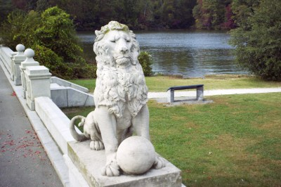 The iconic Riverside lion